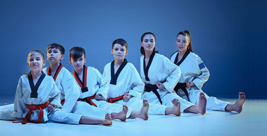 Martial Arts Lessons for Kids in Arvada CO - Kids Group Splits