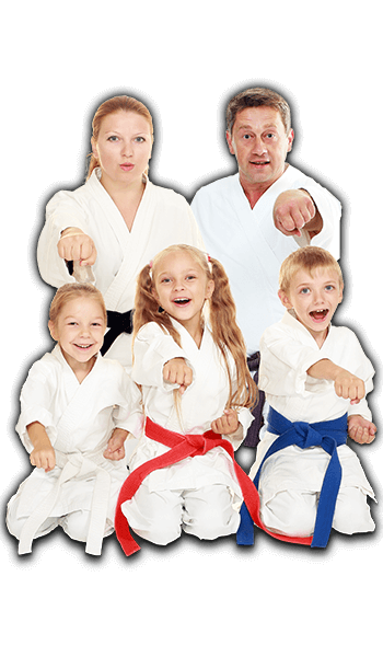 Martial Arts Lessons for Families in Arvada CO - Sitting Group Family Banner