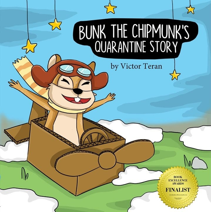 BUNK THE CHIPMUNK'S QUARANTINE STORY RECEIVES COVETED BOOK EXCELLENCE AWARD